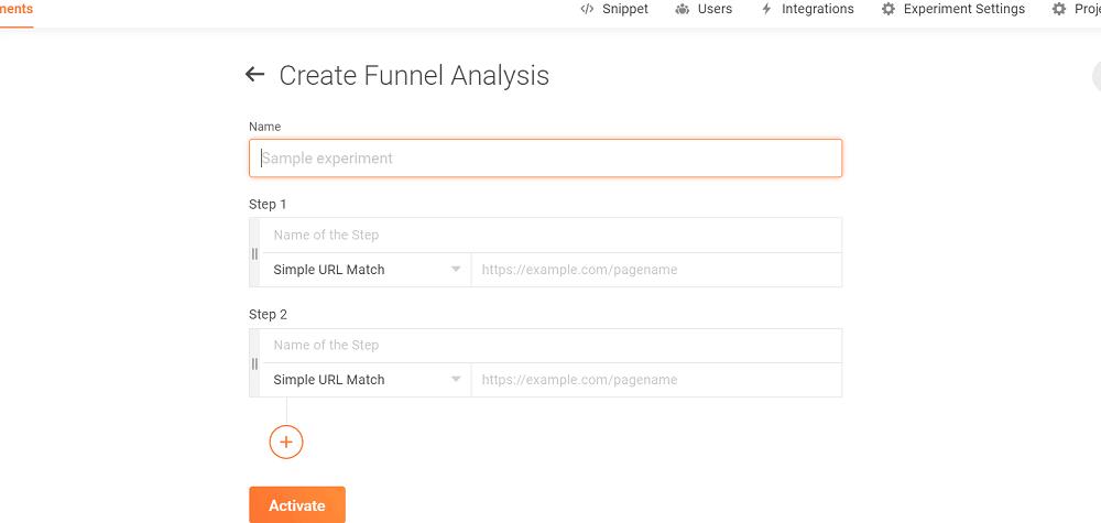 Zoho PageSense Funnel Analysis